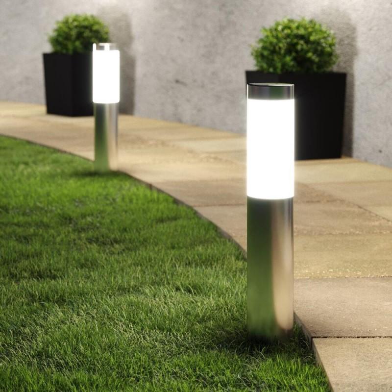 London XT solcellslampor i rostfritt stål (set med 2 lampor)