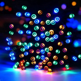 Aurora solcelle lyskæde (50 LED, flerfarvet)
