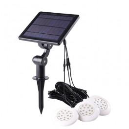 Cascade solcelle undervandslys til havedam