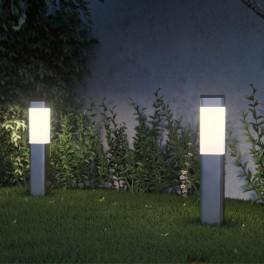 Kodiak Solar lampor i rostfritt stål (set med 2 lampor)