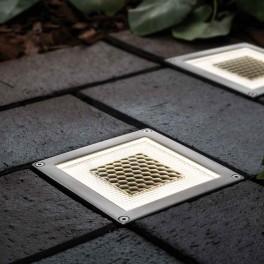 Onyx solcelle nedgravningsspot (half brick, sæt af 2)