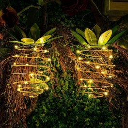 Sliced ananasformet solcellelampe