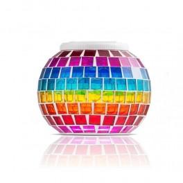 Akasia solcelle bordlampe 'Rainbow'