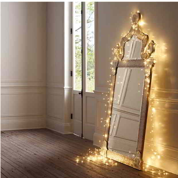 Spegel ljusslingor