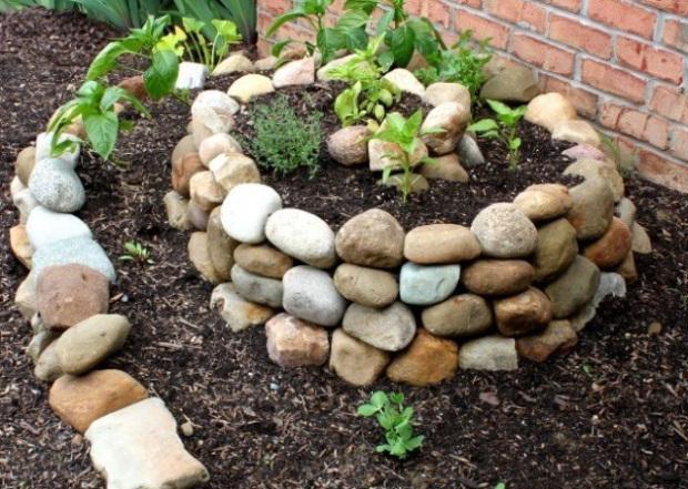 Havefigurer med sten
