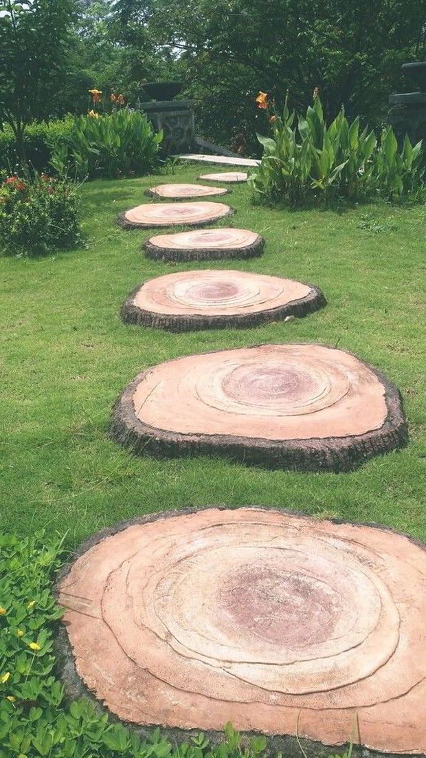 Flere trin af træ