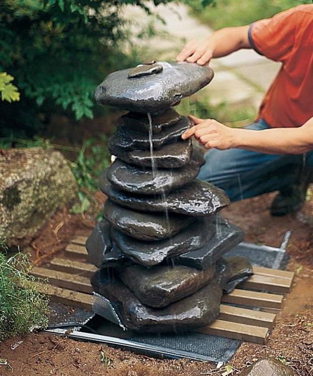 Vandspil i sten